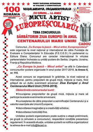 Concursul Cu Europa...La Joaca - Micul artist, Europrescolarul