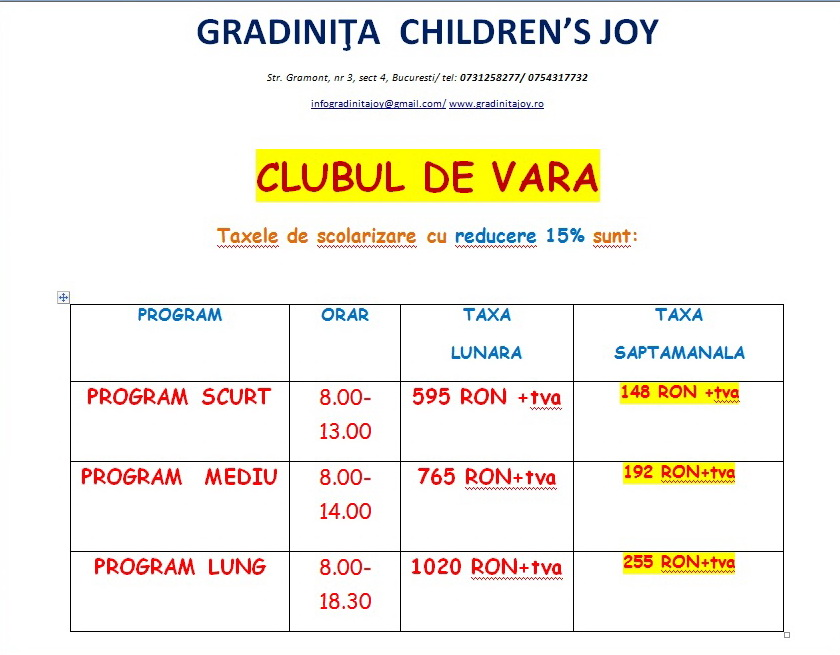 Gradinita Children's Joy