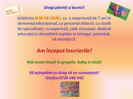 Cresa & Gradinita BOB DE GRAU
